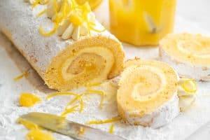 Gluten-free Lemon Swiss Roll Recipe (dairy-free option)