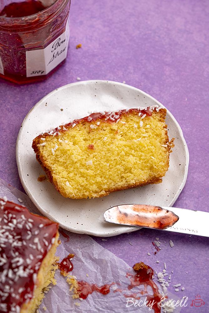 Gluten-free Raspberry and Coconut Cake Recipe (dairy-free option)