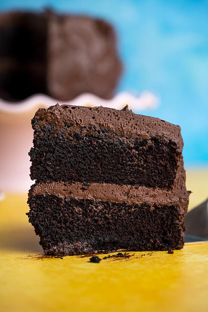 Gluten-free chocolate cake recipe - BEST EVER! (dairy-free + low FODMAP option)