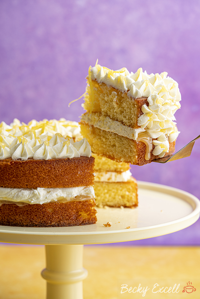 Gluten-free Lemon and Elderflower Cake Recipe (low FODMAP. dairy-free option)