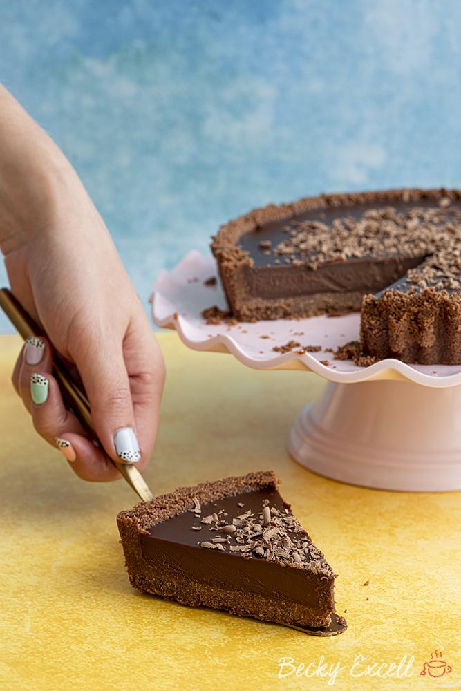Gluten-free No-bake Chocolate Tart Recipe